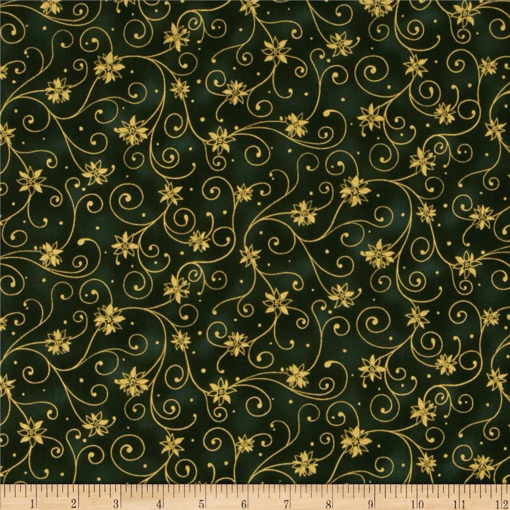 Holiday Accents Classics 2013 Metallic Swirl Green