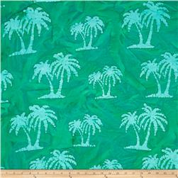 Indian Batik Palm Trees Green