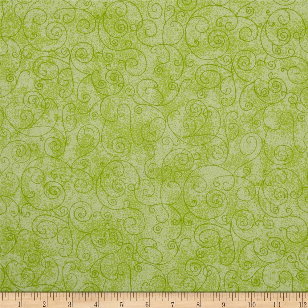 "110"" Wide Flannel Quilt Back Willow Light Green"