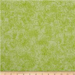 110'' Wide Flannel Quilt Backing Willow Light Green