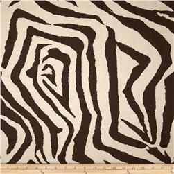 Premier Prints Zebra Chocolate/Natural Fabric