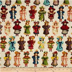 Victorian Paper Dolls Girls Cream