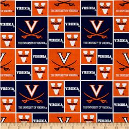 Collegiate Cotton Broadcloth University of Virginia Fabric
