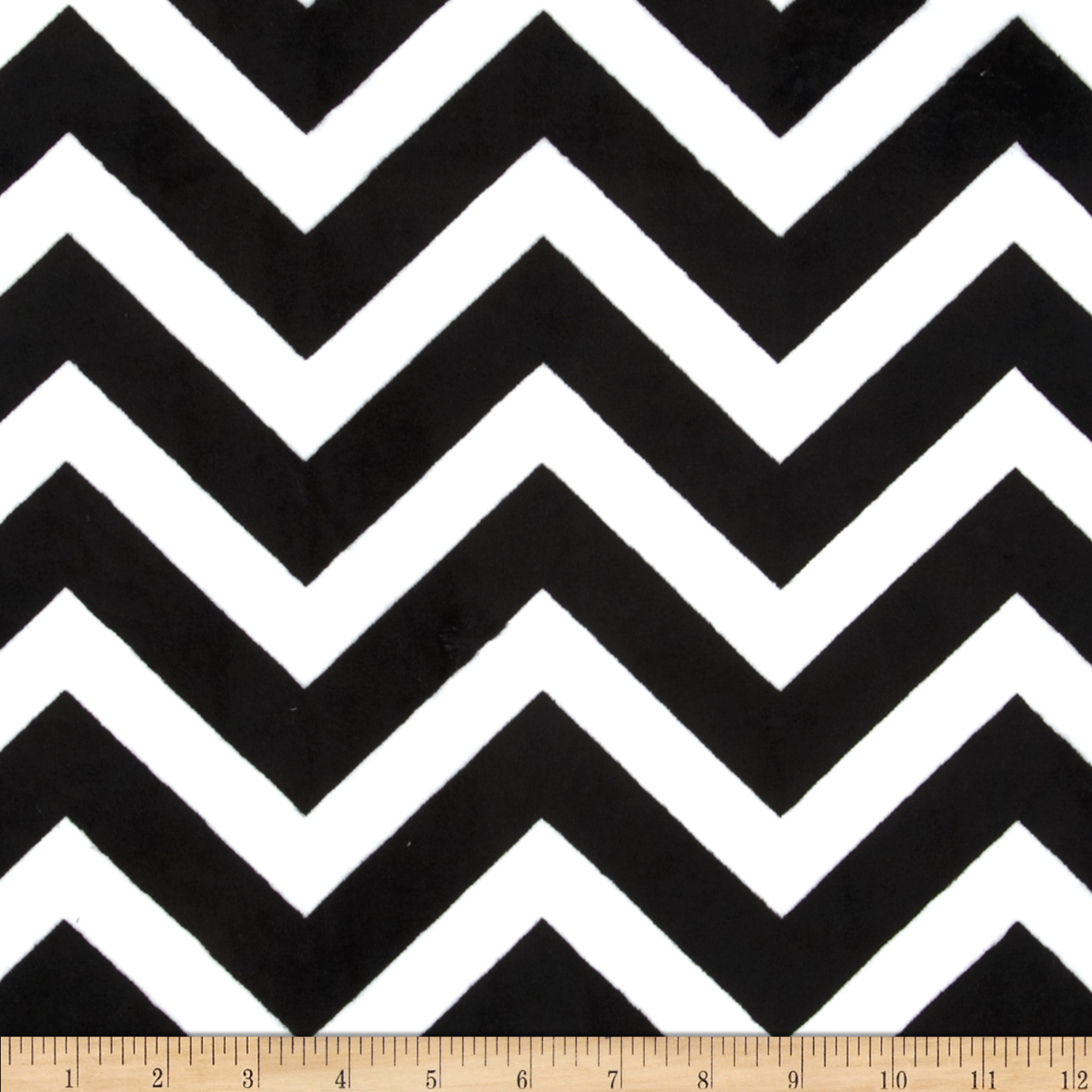 Minky Cuddle Chevron Black/Snow Fabric