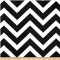 Minky Cuddle Chevron Black/Snow