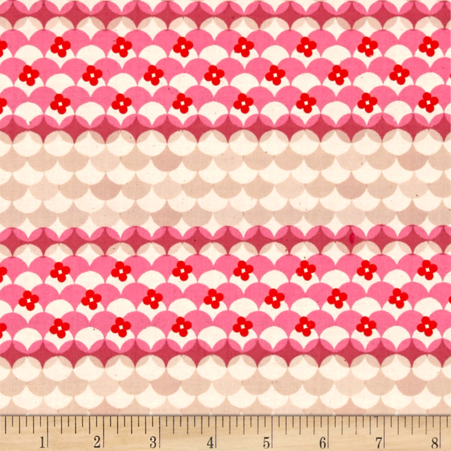 Image of Cotton + Steel Trinket Gum Drops Pink Fabric