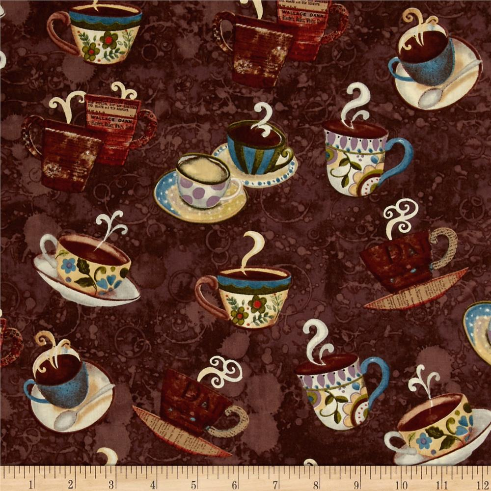 Coffee House Cups & Saucer Brown