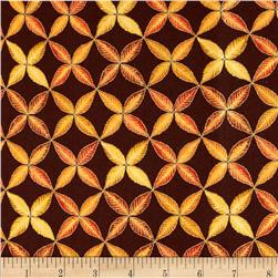 Shades of the Season Metallic Leaf Trellis Harvest Brown
