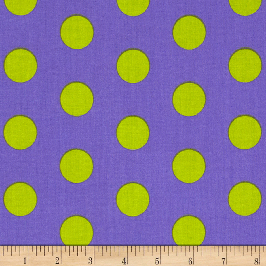 Let's Play Dolls Large Dot Purple Fabric