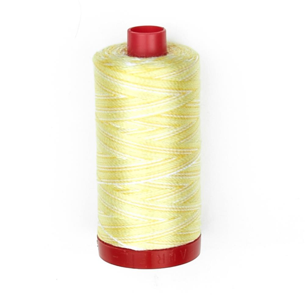 Aurifil 12wt Varigated Embellishment and Sashiko Dreams Thread Lemon Ice