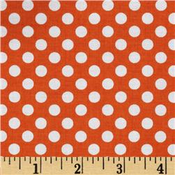 Riley Blake Dots Small Orange Fabric