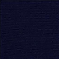 Solid Ponte de Roma Knit Navy Fabric