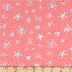 Winter Wonderland Snowflakes Dark Pink