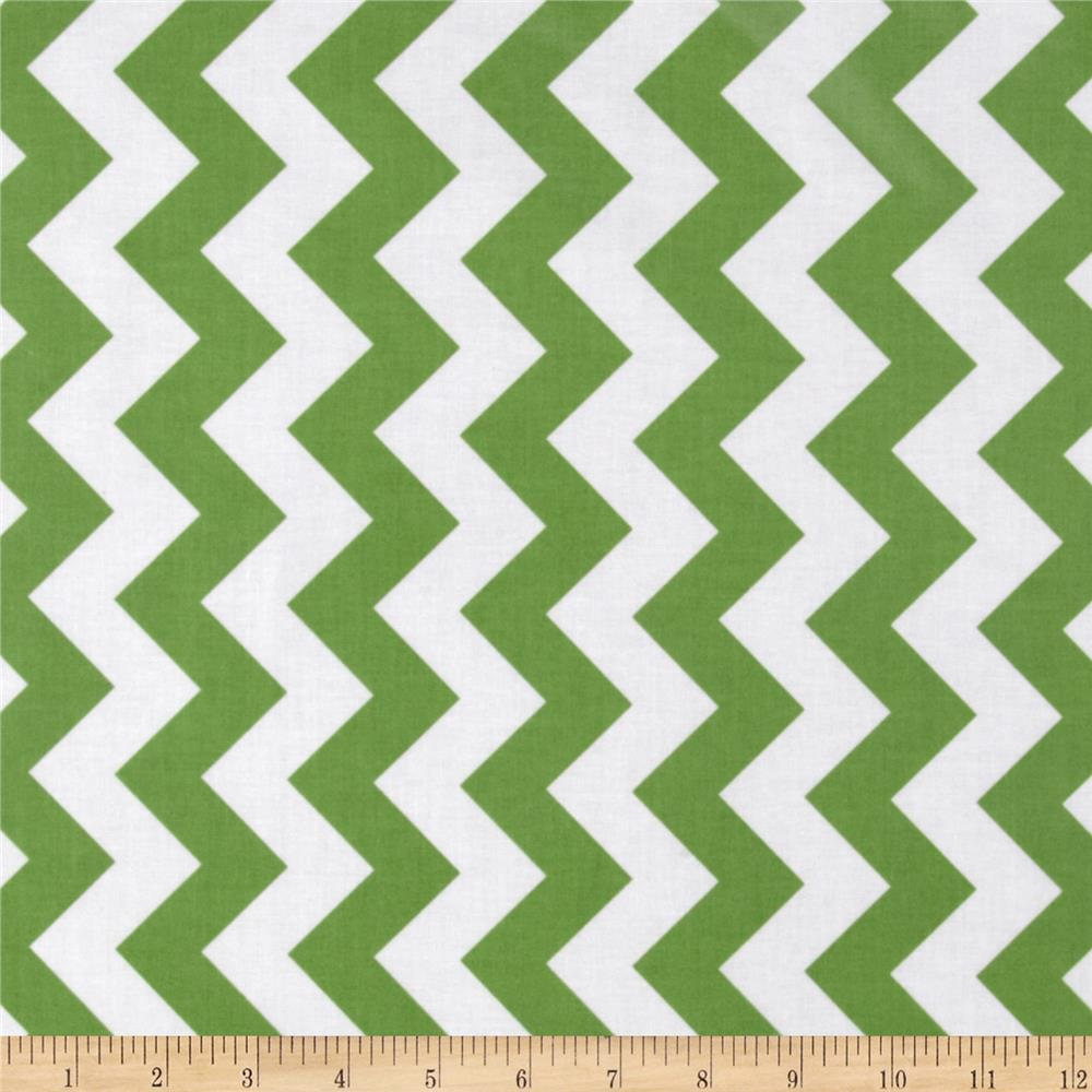Riley Blake Laminate Medium Chevron Green