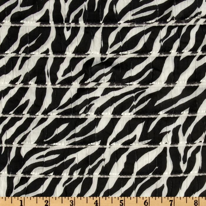 Stretch Ruffle Knit Zebra Black
