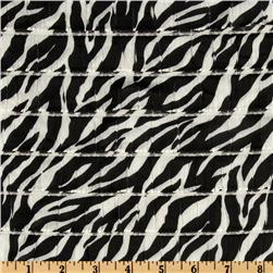 Stretch Ruffle Knit Zebra Black Fabric