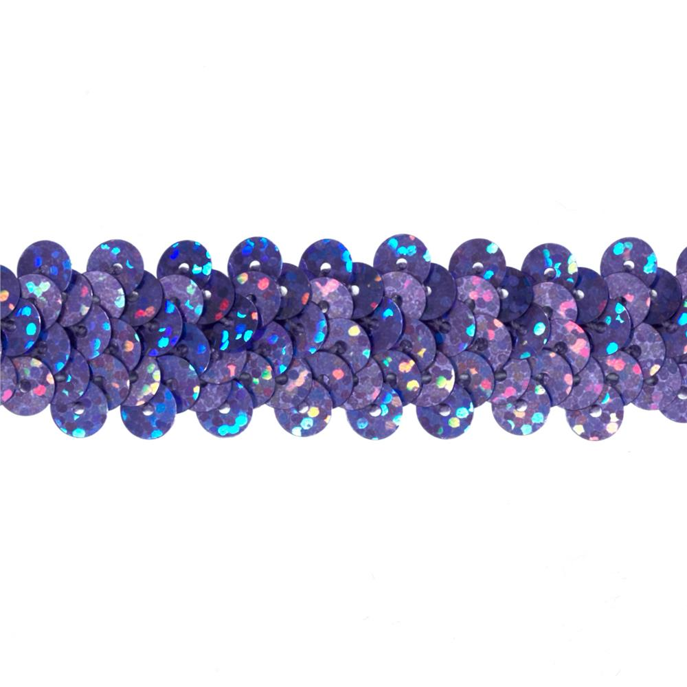 "7/8"" Hologram Stretch Sequin Trim Lavender"