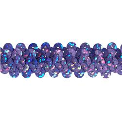 7/8'' Hologram Stretch Sequin Trim Lavender