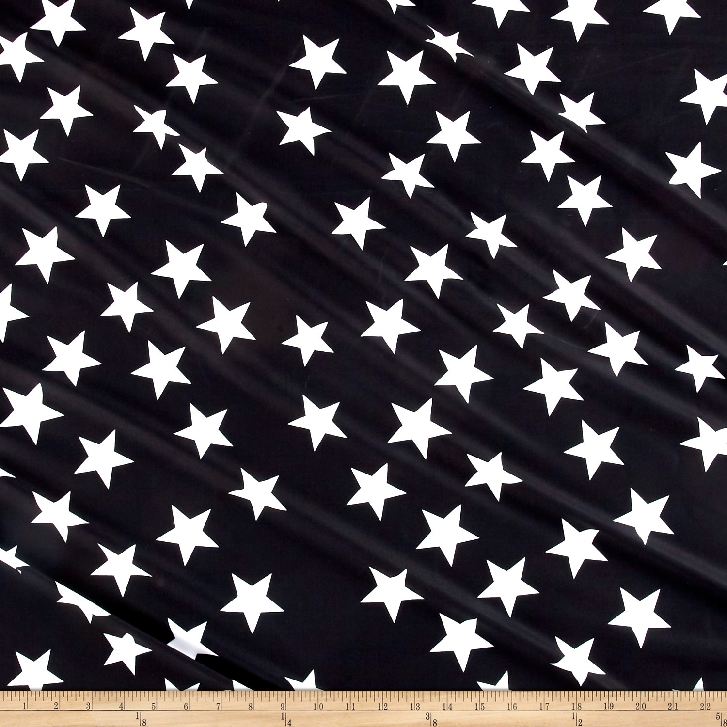 Pine Crest Fabrics You're a Star on Olympus Athletic Double Knit White/Black 0540393