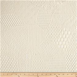 Stretch Lace Abstract Ivory