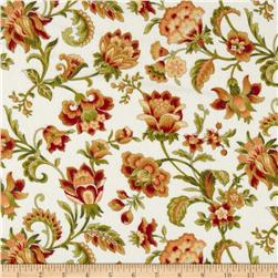 Bonsoir Flannel Large Floral Cream