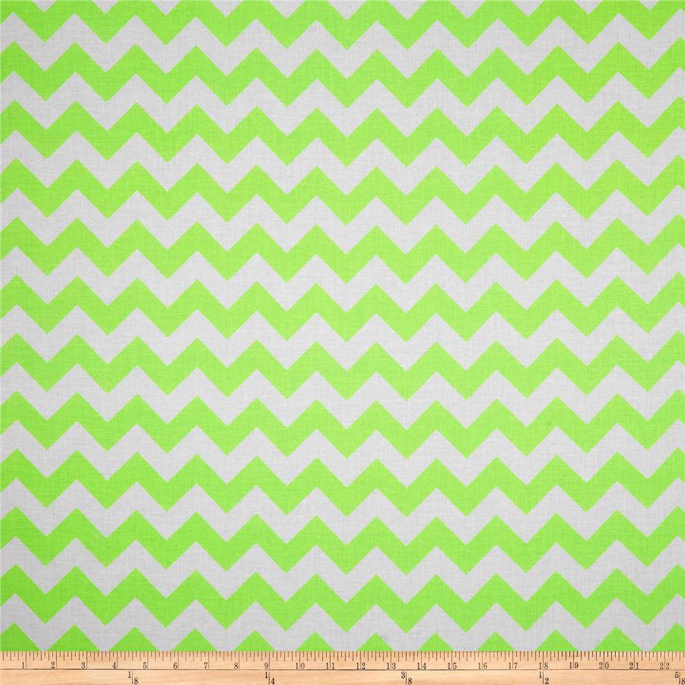 Riley Blake Chevron Neon Green