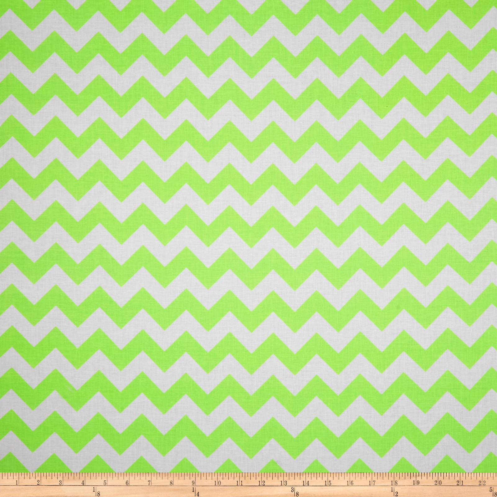 Riley Blake Chevron Neon Green Fabric