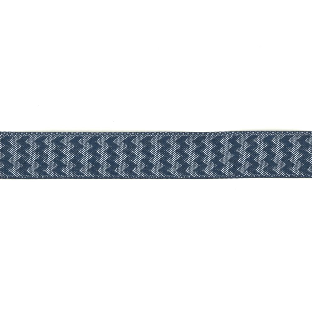 "5/8"" Chevron Stripe Wired Ribbon Navy"