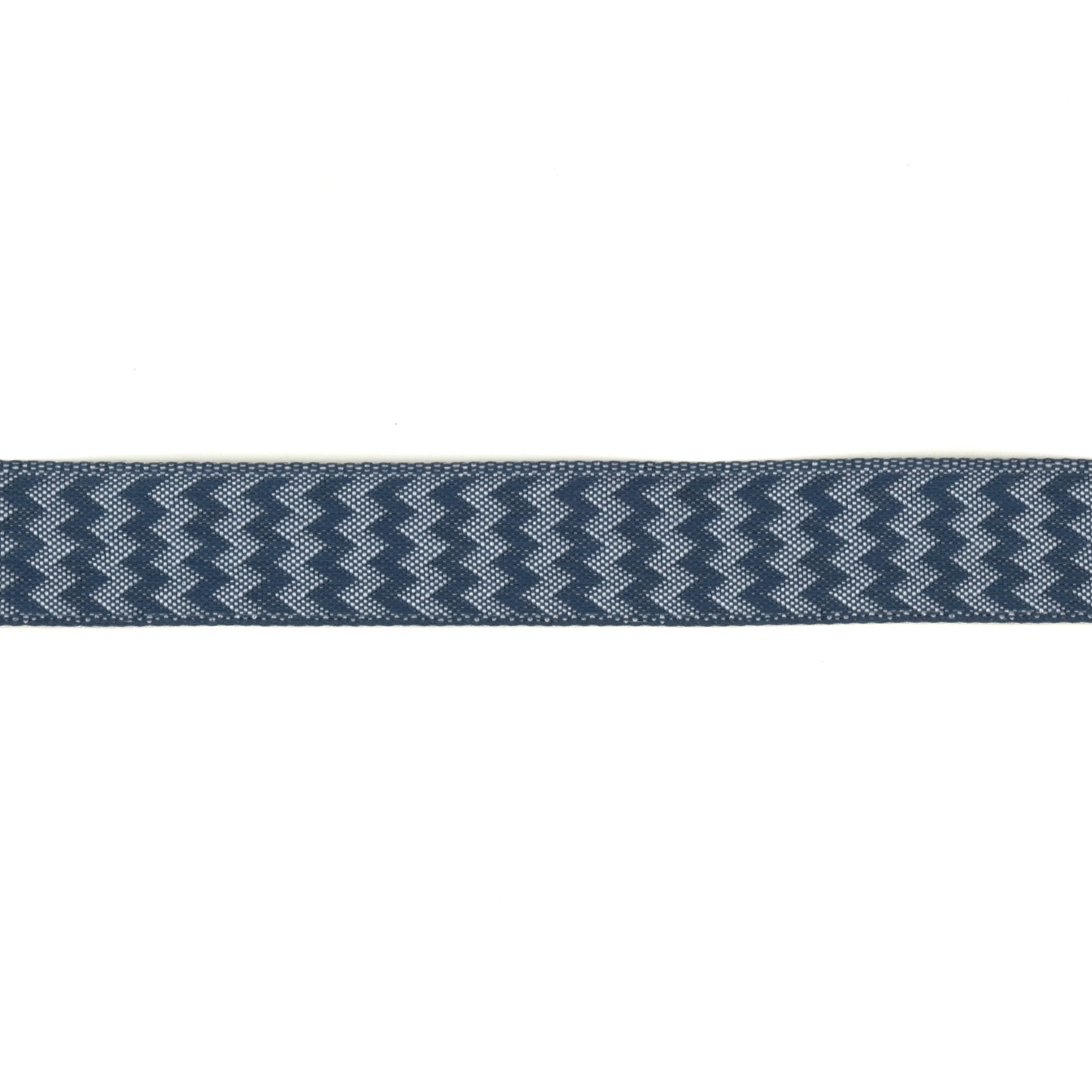 5/8'' Chevron Stripe Wired Ribbon Navy