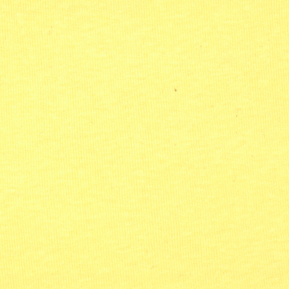 Cotton Baby Rib Knit Light Yellow