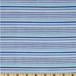 Kaufman Dobby Stripe Shirting Azure