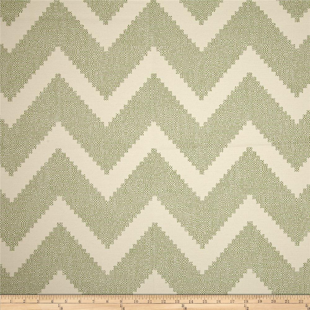 P Kaufmann Indoor/Outdoor Chevron Jacquard Leaf