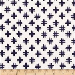 Nancy Gere Low Country Indigo Crosshatch Linen