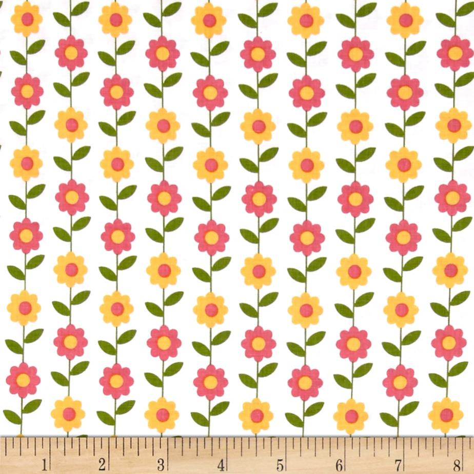 Riley Blake Summer Song 2 Daisy White Fabric By The Yard