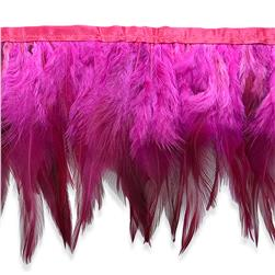 "5 1/2"" Jaylo Feather Trim Fuchsia"