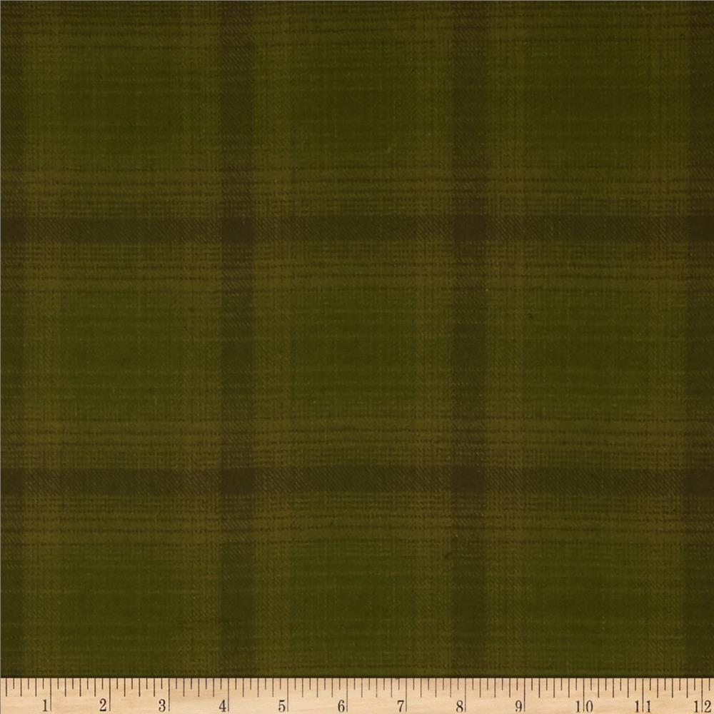 Primo Plaids Flannel Glen Olive Green