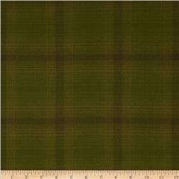 Primo Plaids Flannel Glen Olive Green Fabric