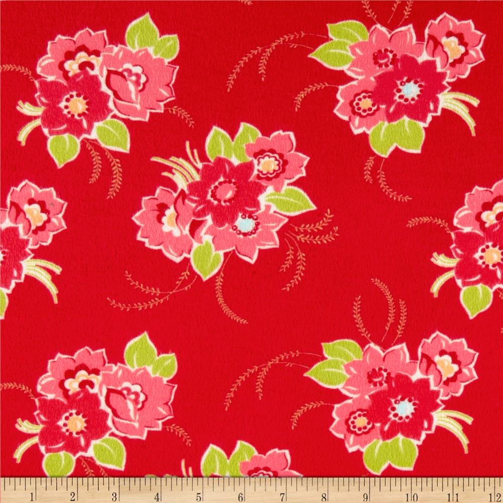 Moda Miss Kate Flannel Blossom Red