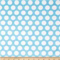 Shannon Minky Cuddle Classics Mod Dot Turquoise/Snow