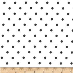 Cotton Blend Broadcloth Aspirin Black Dot On White