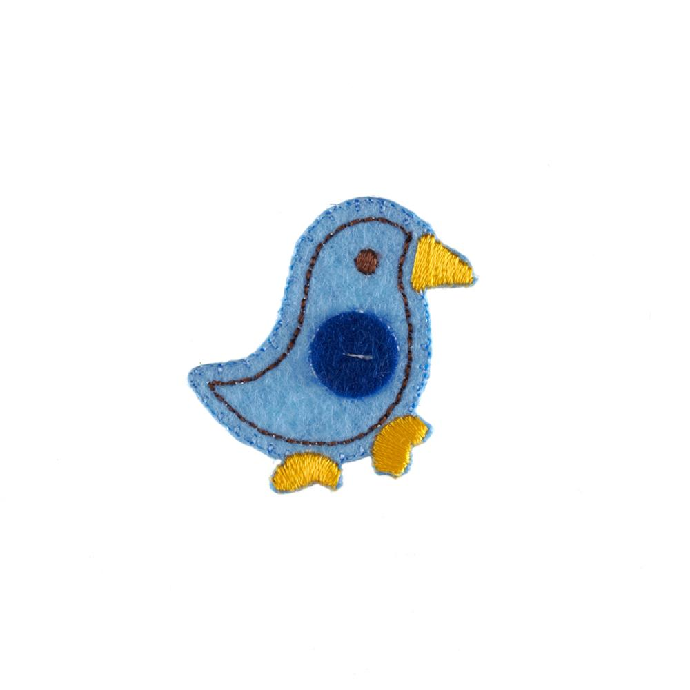 Chick Applique Blue