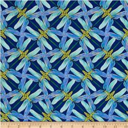 Kanvas Dance Of The Dragonfly Metallic Pinwheel Geo Navy/Periwinkle