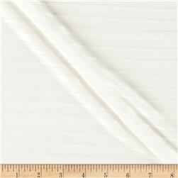 Fine Gauge Knit Shadow Stripe White