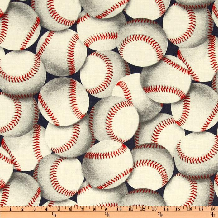 Packed Baseballs Multi Discount Designer Fabric Fabric Com