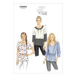 Vogue Misses' Top Pattern V8880 Size A50