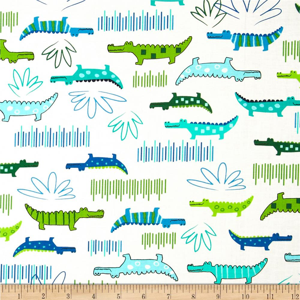 Jungle Creatures Alligators Bright