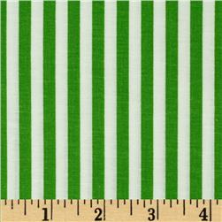 Basic Training Stripe Lime Green/White Fabric