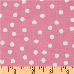 Remix Polka Dots Pink Fabric