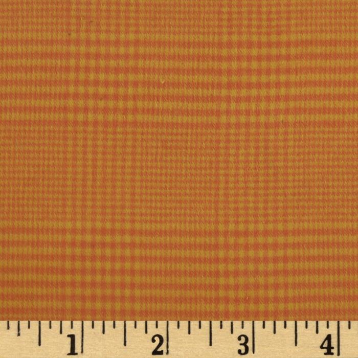 primo plaids harvest flannel houndstooth plaid orange. Black Bedroom Furniture Sets. Home Design Ideas
