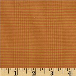Primo Plaids Harvest Flannel Houndstooth Plaid Orange